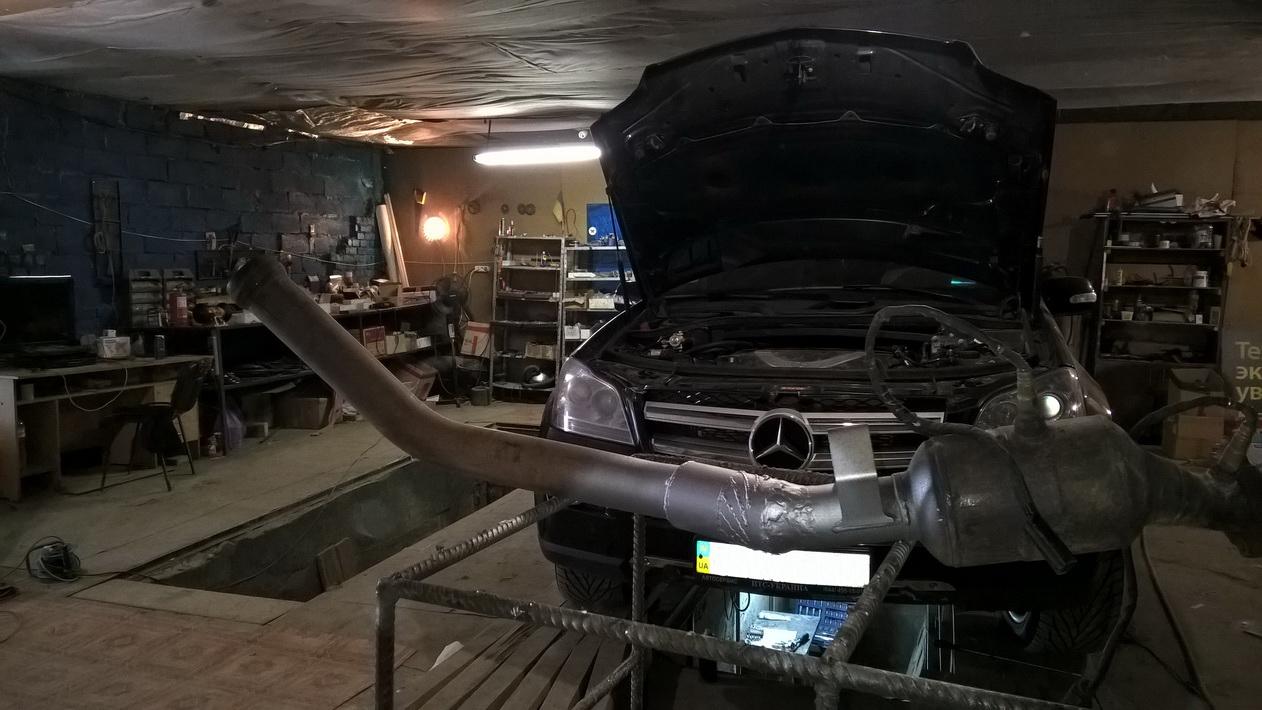 Удаление катализаторов, установка турбоконвертеров и эмуляторов катализатора на Mercedes GL 550