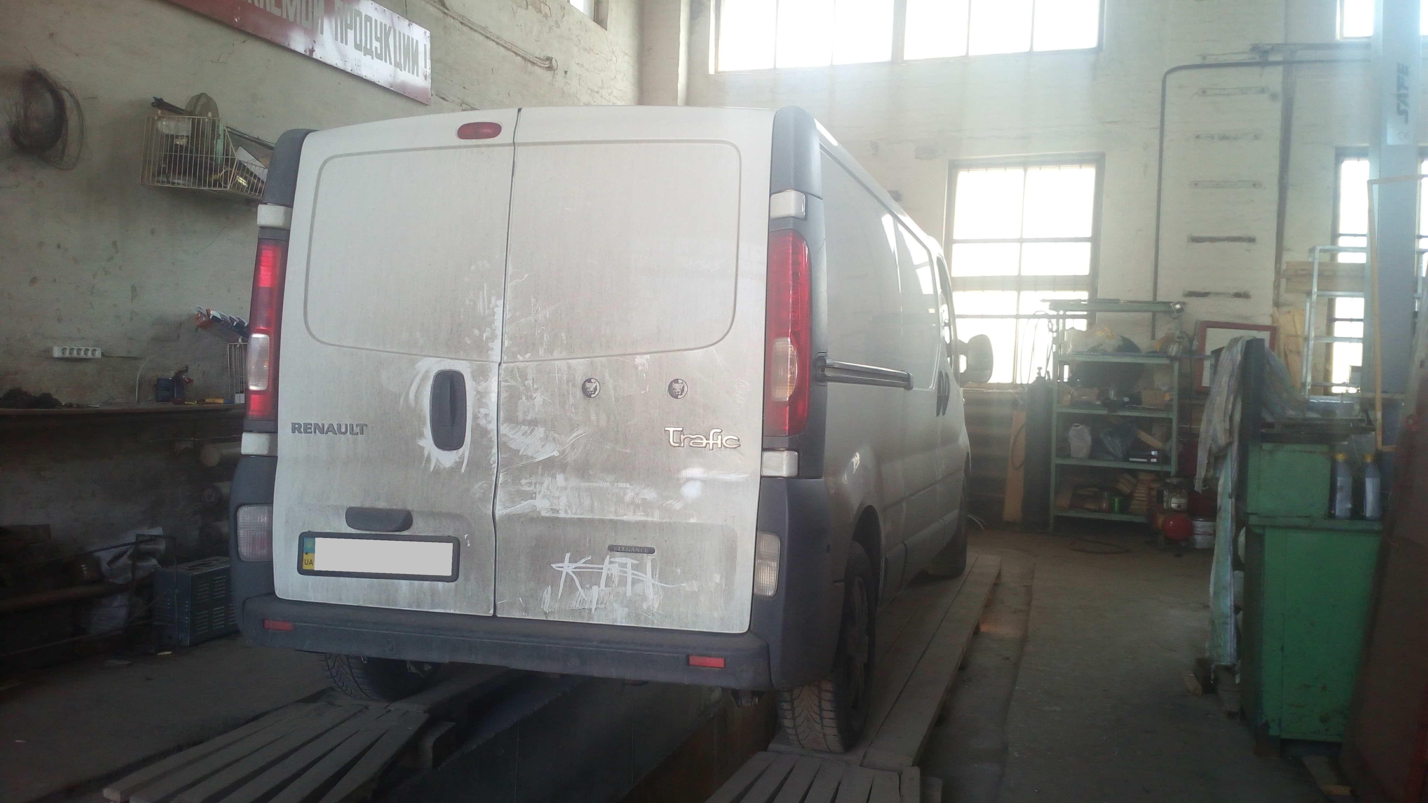 Диагностика сажевого фильтра Renault Trafic
