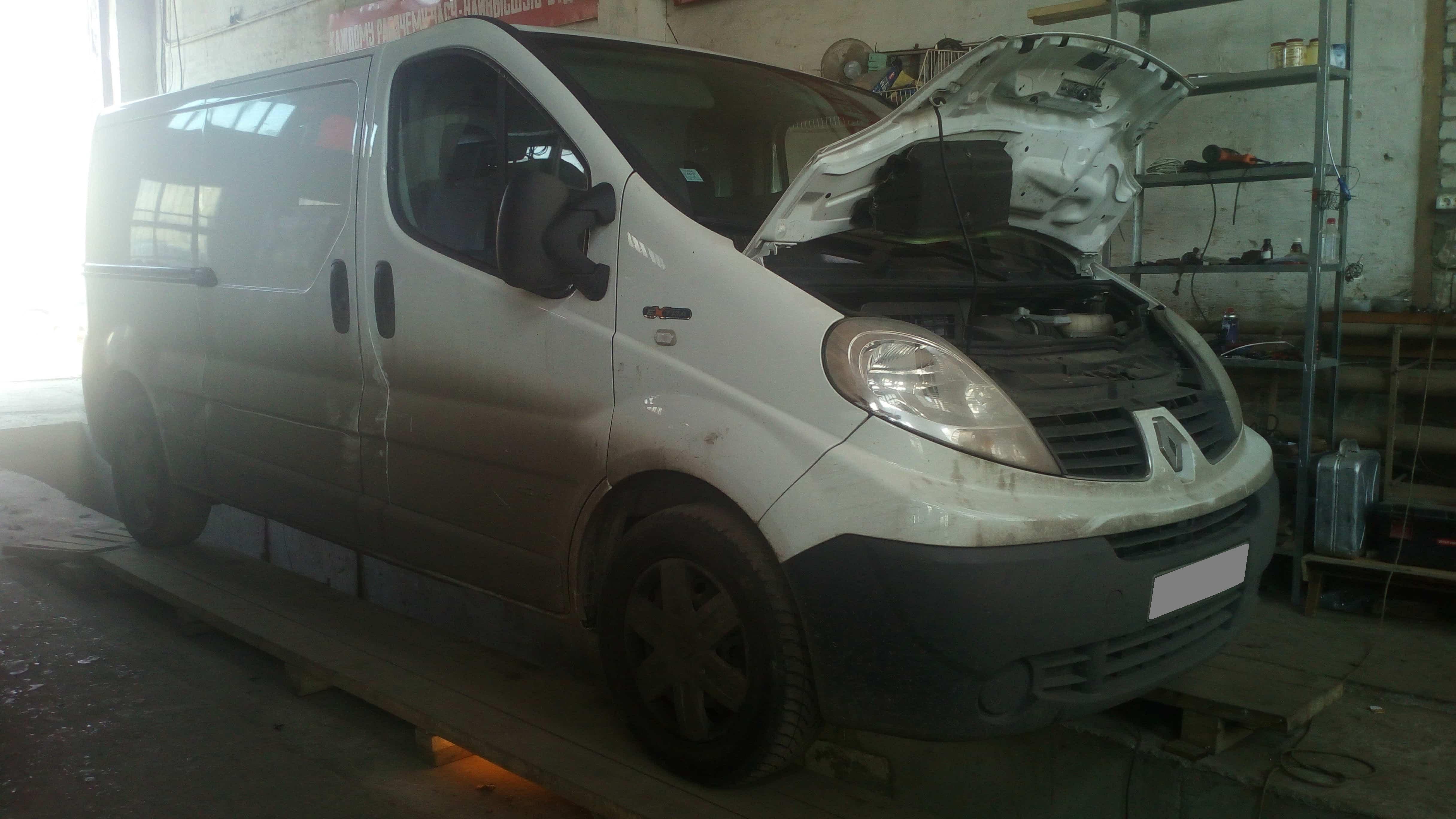 Ошибка по сажевому фильтру Renault Trafic